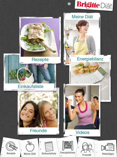 BRIGITTE Diät zeigt Rezepte, Diätpläne, Einkaufslisten und Energiebilanzen auf iPhone und iPad