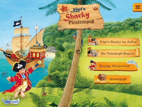 Käpt'n Sharky Piratenspaß Kombination aus lesen und spielen