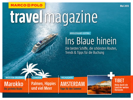 MARCO POLO kostenloses travel magazine startet in den Mai