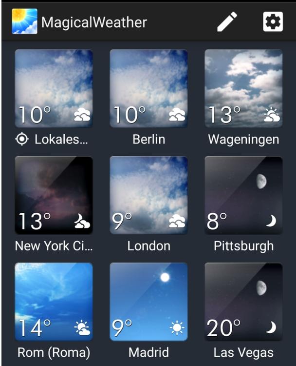 MagicalWeather jetzt auch bei Google Play kostenlos