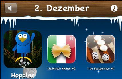 Zweiter Tag der Weihnachtsrabattaktion: Italienisch Kochen HQ, Hoppler und True Backgammon HD