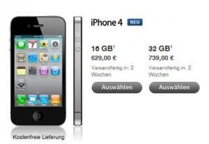 iPhones bei Apple im Store - ohne SIM-Lock