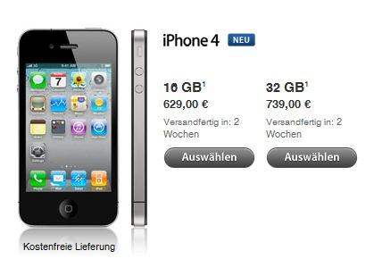 iphone 3 4 ab heute ohne sim lock im apple store. Black Bedroom Furniture Sets. Home Design Ideas