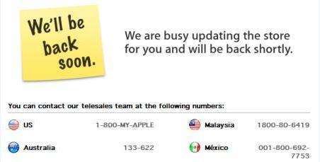 We'll back soon - Apple Store ist nicht erreichbar