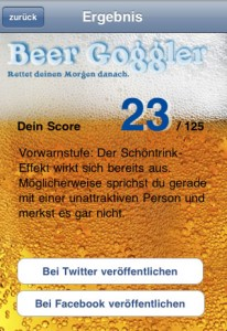 Beer Goggler - Auswertung