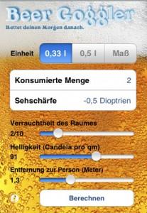 Beer Goggler - Die Einstellungsmöglichkeiten