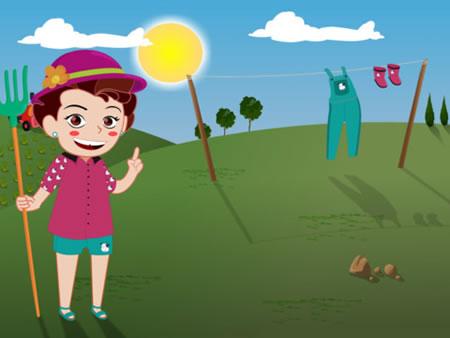Spiele und lerne mit der App Clara Animals