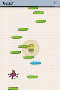 Doodle Jump - geschützt in der Blase