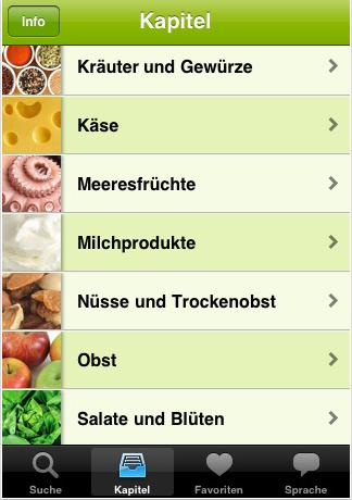 Food Guide 2.0 - Kategorien
