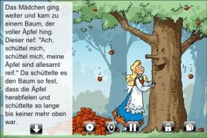 """Frau Holle - Goldmarie und der Apfelbaum """"Schüttel mich"""""""