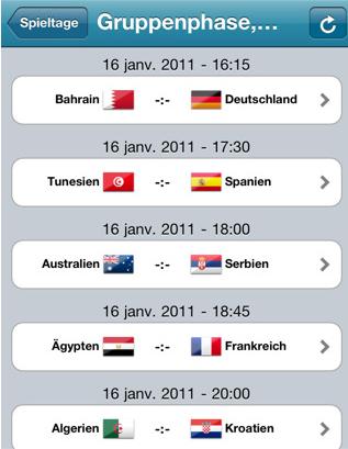 Handball WM2011 Spieltage