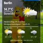 HARIBO Goldbär zeigt das Wetter