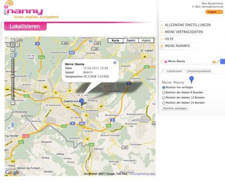 iNanny für das iPhone, iPod touch und iPad