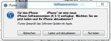 iOS 4.3.1 Update ist ab sofort über iTunes verfügbar