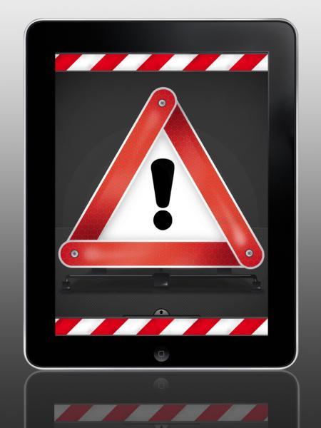 Warndreieck 3000 Unterhaltung auf dem iPad