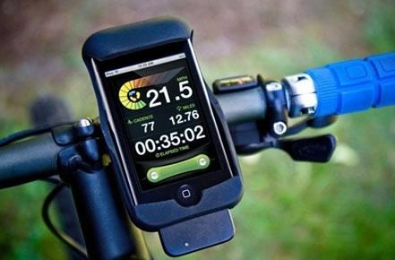 LiveRider Cycling Computer für iPhone und iPod touch mit passender Lenkerhalterung