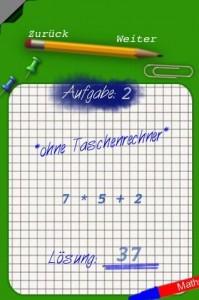 Punktrechnung geht vor Strichrechnung - Mathe App