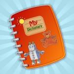 """Kinder lernen mit """"Mein Bilderwörterbuch-App"""" vier Sprachen"""