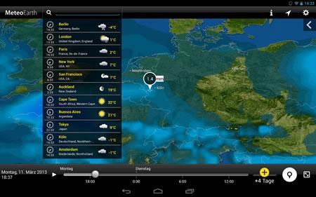 3D-Wetter-App MeteoEarth neue Generation der Wettervorhersage