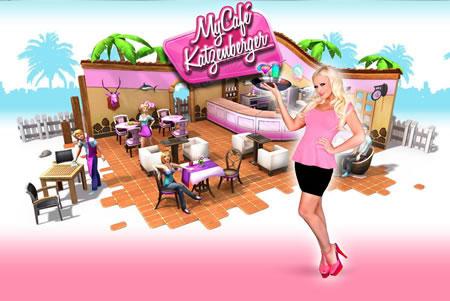 Kultblondine Daniela Katzenberger - Spiel-App My Café Katzenberger