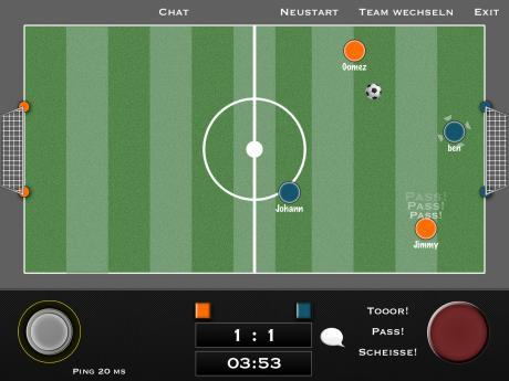 iPad-Spiel zur Fußball-EM 2012 - Padkick Multiplayer