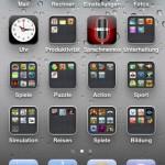 Startbildschirm nach IOS 4 Update