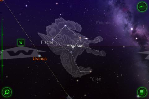 Star Walk 5.4 App zeigt Sterne, Sternbilder, Planeten, Satelliten und Galaxien
