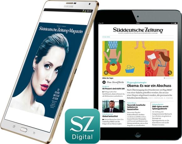 Süddeutsche Zeitung Tablets iPad mini oder Galaxy Tab S für nur 1 Euro