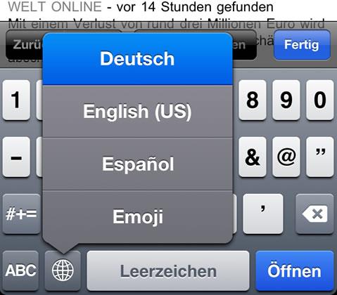 Tastaturbelegung schnell ändern