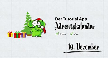 """...24. Dezember täglich einen Video-Tipp im """"Tutorial App""""-Adventskalender"""