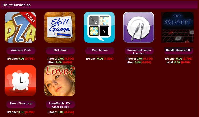 iphone app heute kostenlos