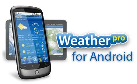 WeatherPro HD für Android-Tablets und Update für Android-Smartphones