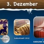 Spartag 3 - heute günstiger: iLohn+Kredit 2012, Xelebration und Karajan