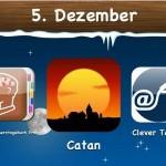 """Ein Tag vor Nikolaus gibt es auch App-Geschenke. Einmal Spiele, eine App aus dem Bereich Gesundheit und Fitness und Navigation sind wieder mit Rabatten von 50% und mehr zu bekommen. Das Kultstrategiespiel """"Catan"""" ist heute für 2,39 Euro statt 3,99 Euro im iTunes App-Store erhältlich."""