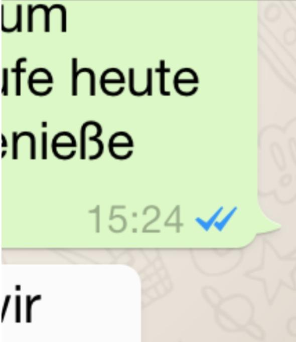 WhatsApp macht den blauen Haken dran