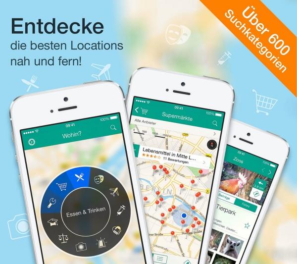Jetzt für 99 Cent - Wohin? 9.0: iPhone-Umkreissuche mit 3D Touch, Siri-Unterstützung