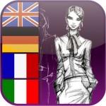 Fachwörter-App für Bekleidung und Mode Deutsch/Englisch/Französisch/Italienisch